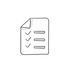 Shopping list sketch icon vector image