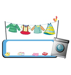 An empty template with a washing machine and vector image vector image