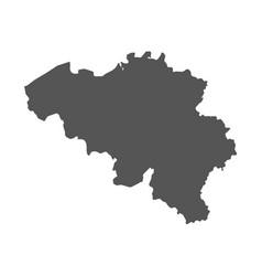 Belgium map black icon on white background vector