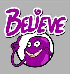 Believe funny icon vector image vector image