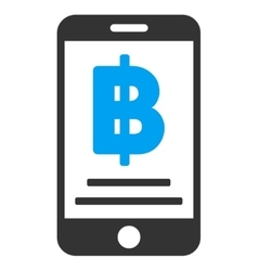 Bitcoin Mobile Payment Flat Icon vector image vector image