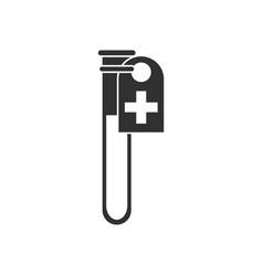 Black icon on white background test tube vector