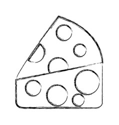 Cheese fresh isolated icon vector