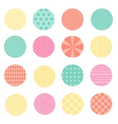 Circles with retro design vector