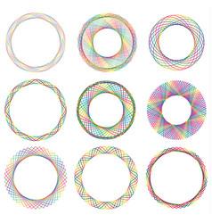 colorful circle border frame vector image vector image