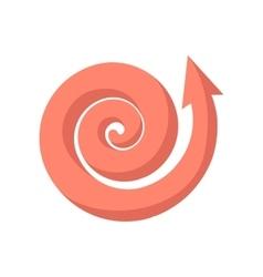 Curling pink arrow cartoon icon vector image