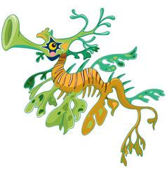 dragon seahorse vector image