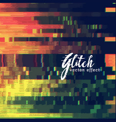 Glitch abstract background showing malfunction vector