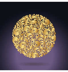 golden curves circle1 vector image