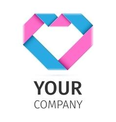 heart logo template vector image