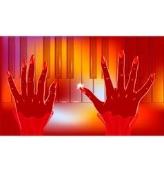 Jazz piano player vector image