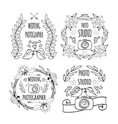 logo photography vector image vector image