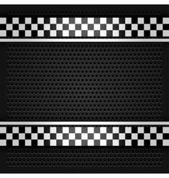 Metallic perforated sheet gray vector image vector image