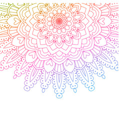 rainbow coloured mandala background vector image