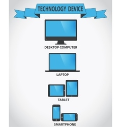 Responsive design for web- computer screen vector image