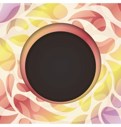 round frame Multicolored abstract background vector image vector image
