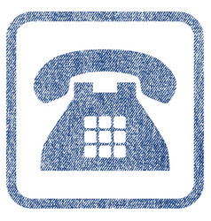 tone phone fabric textured icon vector image