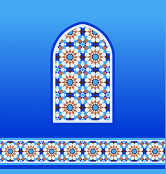 traditional moroccan mosaic vector image vector image