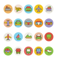 Transport Icons 6 vector image