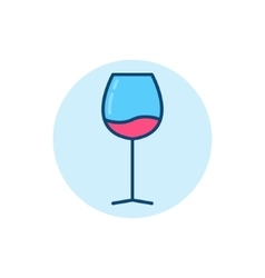 Wine glass flat icon vector