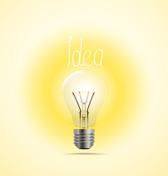Bright lamp Idea concept vector image