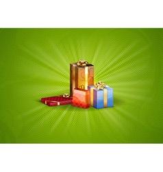 christmas background shine green vector image