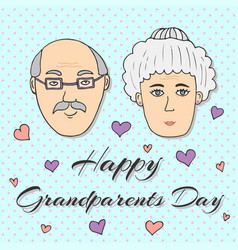 Happy grandparents day greeting card vector
