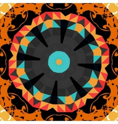 Round mandala line pattern colorful frame for text vector image