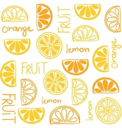 Citrus fruit seamless pattern vector