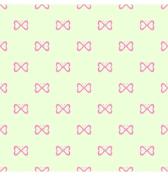 Seamless pattern with pink butterflies vector