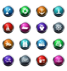 Cruise icons set vector