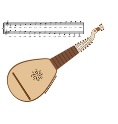 Kobza ukrainian musical instrument vector