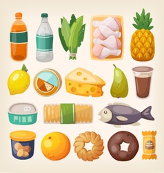 Colorful products icons vector