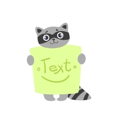 Raccoon with the template for the message vector