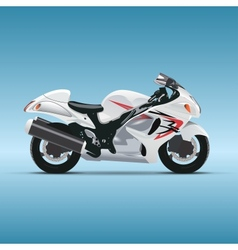 motorcycle on blue background vector image