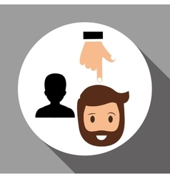 Employment design human resources icon isolated vector