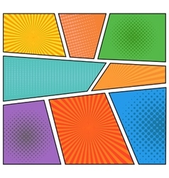Comics book background vector image