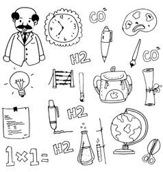 Element school doodles hand draw vector
