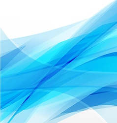 Abstract background light blue curve and wave vector image vector image
