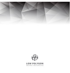 abstract low polygon light gray color polygonal vector image
