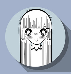 anime nice surprised woman vector image vector image
