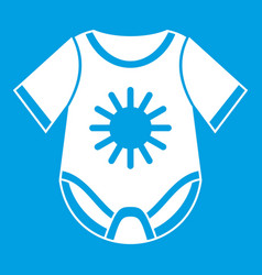 Baby bodysuit icon white vector