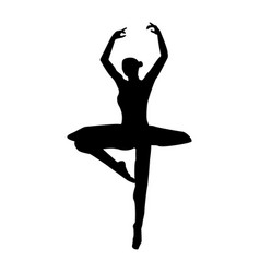 Ballet dancer the black color icon vector