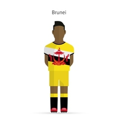 Brunei football player soccer uniform vector