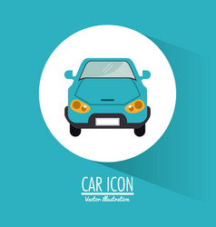 car vehicle transportation design vector image