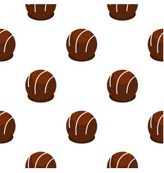 Chocolate candy pattern seamless vector