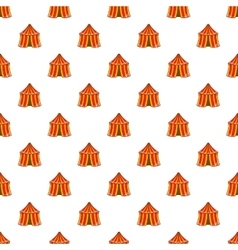 Circus tent pattern cartoon style vector