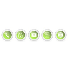 Contact us buttons - set vector