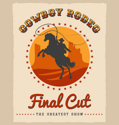 Cowboy rodeo poster vector