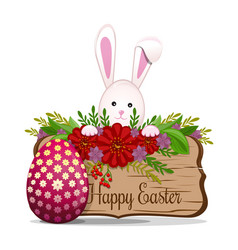 Cute easter bunny wishes happy easter easter vector